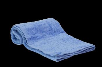 Махровое полотенце с греческим бордюром 40х70 см.